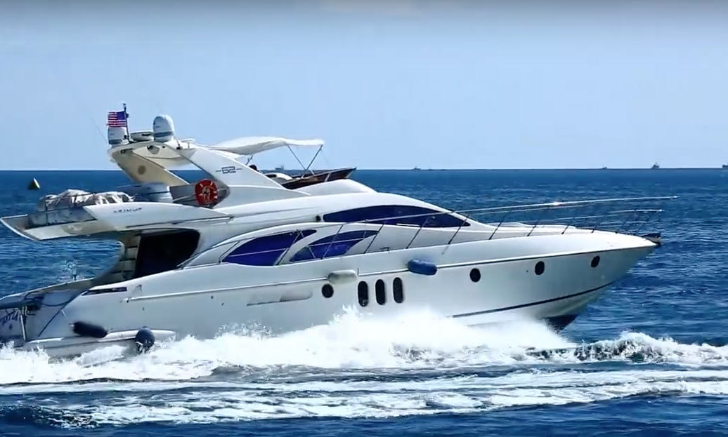 Charter 62' Azimut Fly Bridge Luxury Yacht + Jet Ski in Miami, Florida