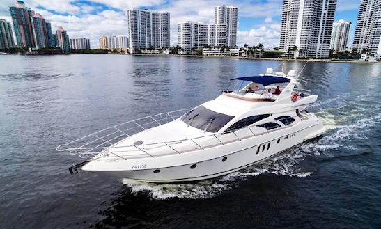 Charter 62' Azimut Fly Bridge Luxury Yacht + Jet Ski In Miami, Florida