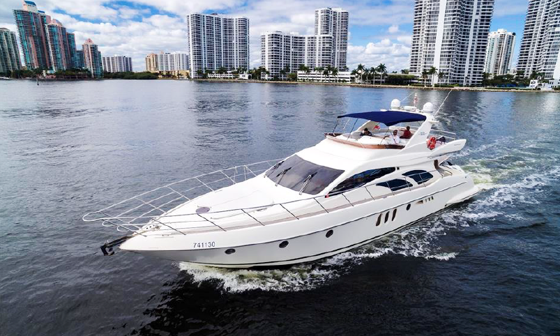 62ft Azimut Fly Bridge Luxury Yacht + Jet Ski