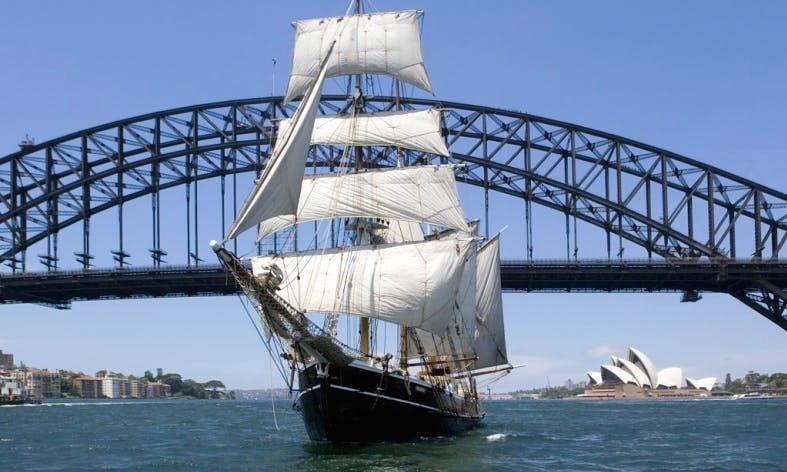 """Experience Sydney Harbour on Tall Ship """"Southern Swan"""""""