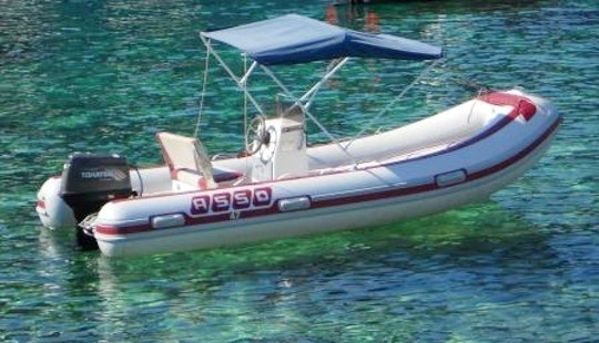 15' Asso 47 Inflatable Boat In Ponza Island, Italy