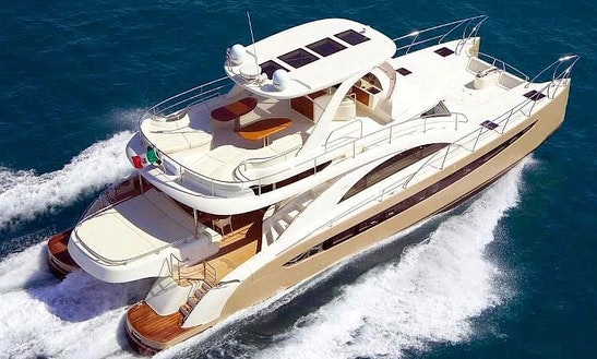 62′ Rodriguez Power Catamaran Rental In Miami Beach