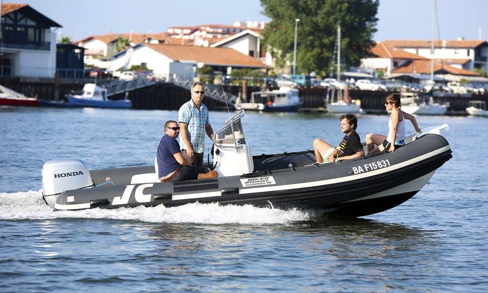 Enjoy Hendaye, France on Joker Boat Clubman 19 Powerboat