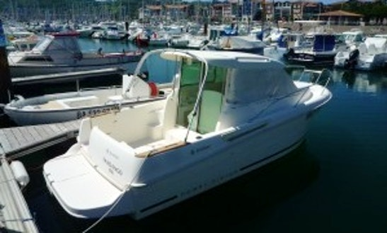 Enjoy Merry Fisher 655 Powerboat In Hendaye, Basque Country