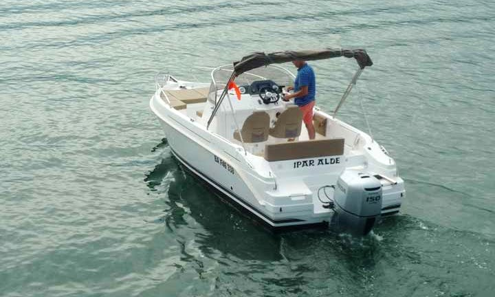 Enjoy Cruising in Hendaye, Basque Country on Cap Ferret 672 Powerboat