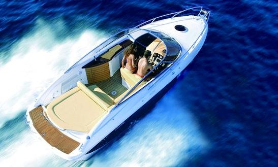 26' Self Drive Cuddy Cabin Hire In Dongo, Iatly