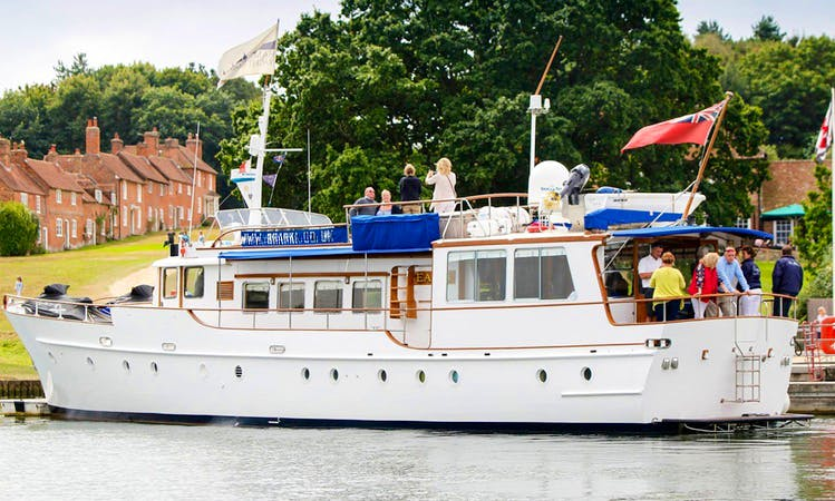 "Skippered Charters on 75' Motor Yacht ""Seafin"" from Hamble-le-Rice, England"