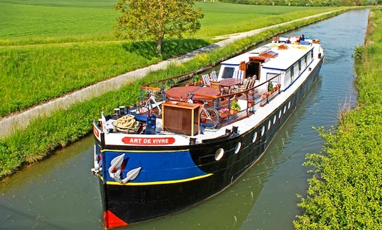 Explore Auxerre, France On 100' Canal Boat