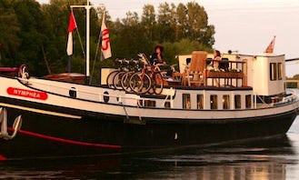 Explore Loire Valley, France on 80' Nymphea Canal Boat