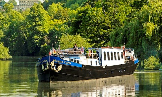 Explore England, United Kingdom On 117' Magna Carta Canal Boat
