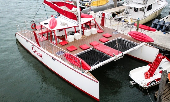 Charter 50' Catamaran In Miami, Florida