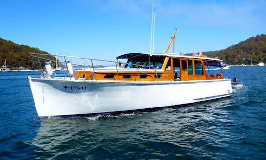 Charter 36' Halvorsen Trawler In Newport, Australia