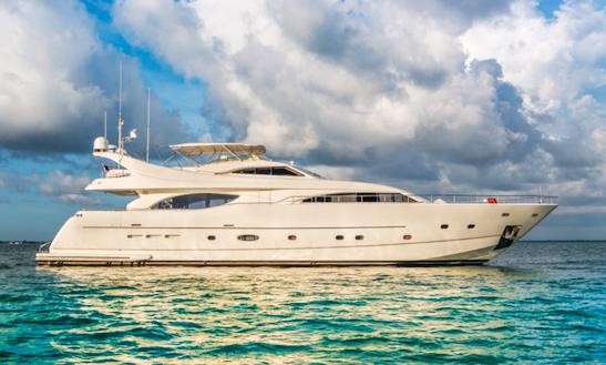 Captained Charter On 94ft Ferretti In Miami
