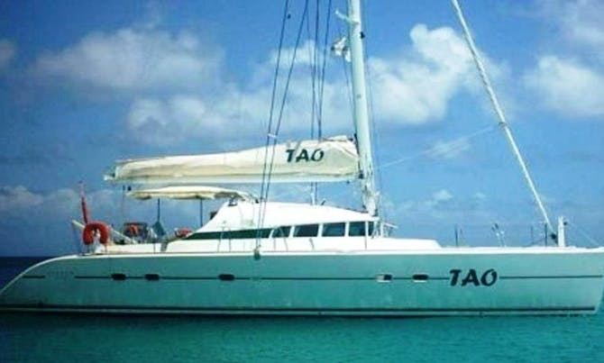 "7 Day Cruise Aboard 47ft ""Tao"" Cruising Catamaran in Sainte-Anne, Guadeloupe"