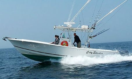 32' Center Console Fishing Charter in Winthrop, Massachusetts