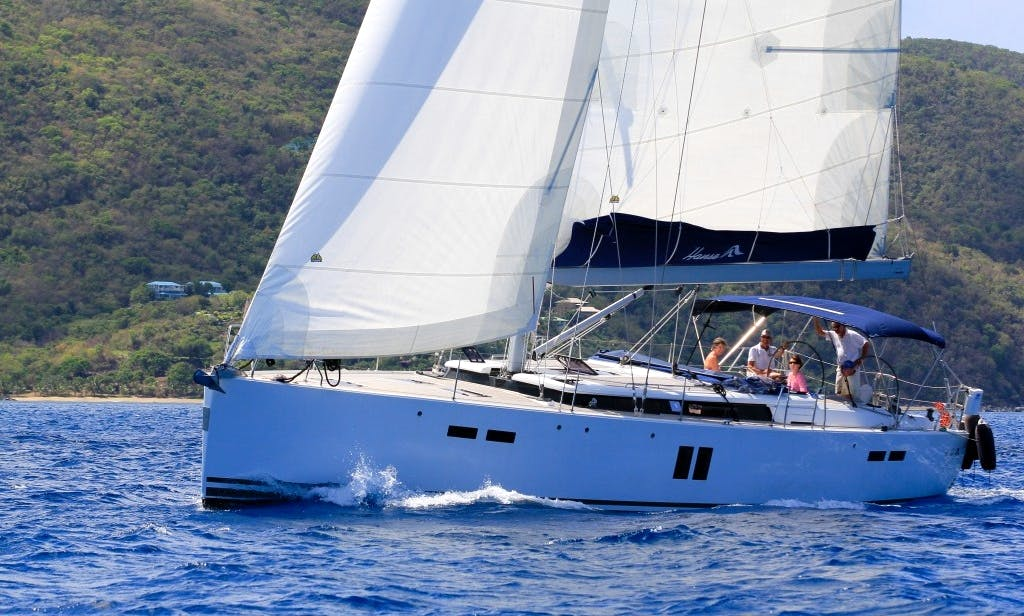 """Skippered Charter 55ft Hanse """"Scents of Paradise"""" Sailing Yacht in Tortola, British Virgin Islands"""