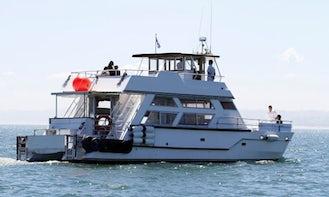"Discover the Isla de Lobos, Uruguay on 56ft ""Calypso"" Motor Yacht"