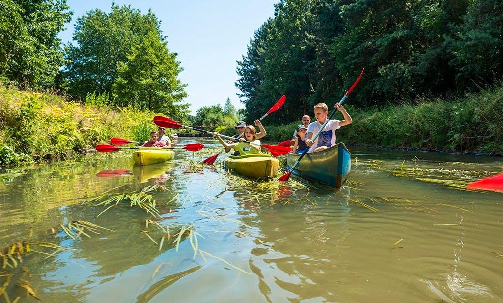Kayaking on Kleine Nete River in Belgium