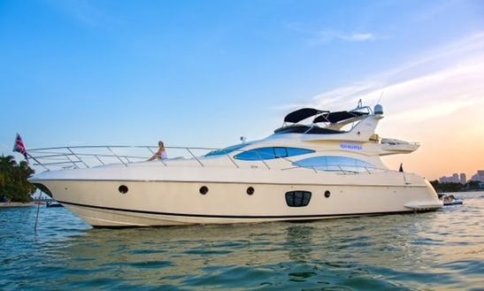 68' Azimut Mega Yacht Charter In Miami, Florida
