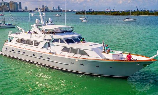 103' Broward Mega Yacht Charter In Miami, Florida 8 Hours Minimum!!!!!