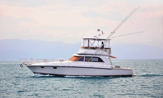 46' Trojan Fishing Yacht Charter In Puerto Vallarta, Mexico