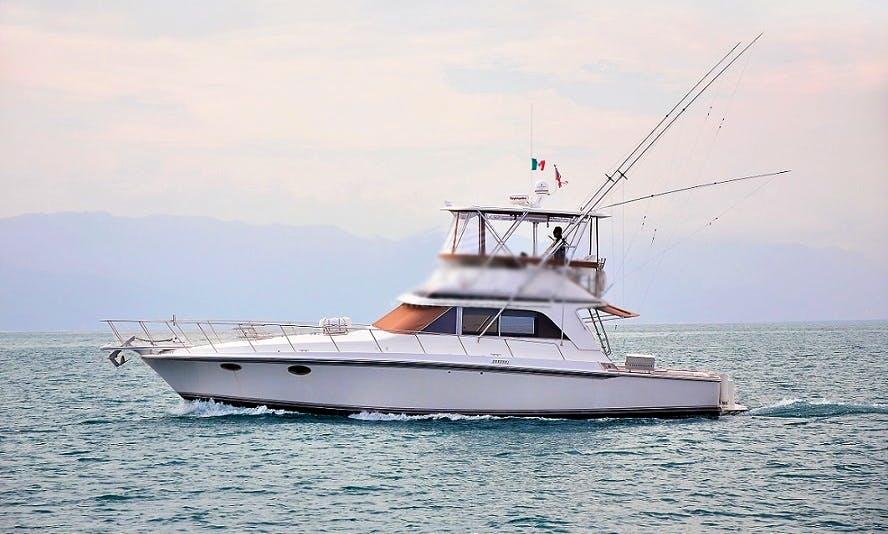 46' Trojan Fishing Yacht Charter in Puerto Vallarta, Mexico