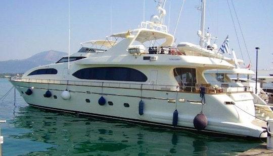Explore The Mediterranean Sea On Falcon 102 Power Mega Yacht