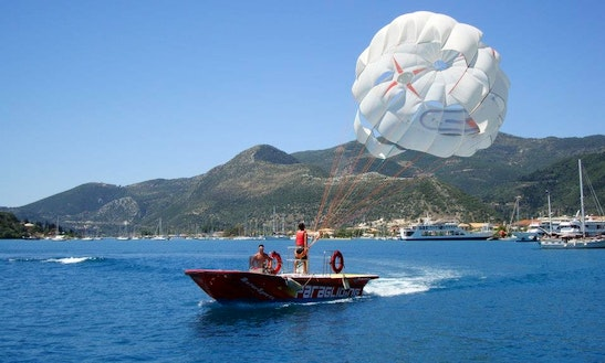 Enjoy Parasailing In Lefkada, Greece