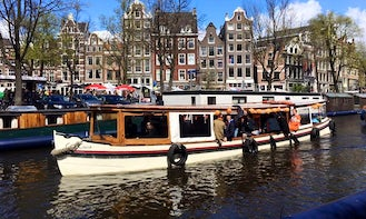 Rent Old Queen Canal Boat in Amsterdam, Netherlands