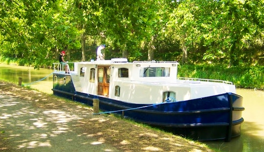 Experience France On Euroclassic 149 Canal Boat In Capestang, France