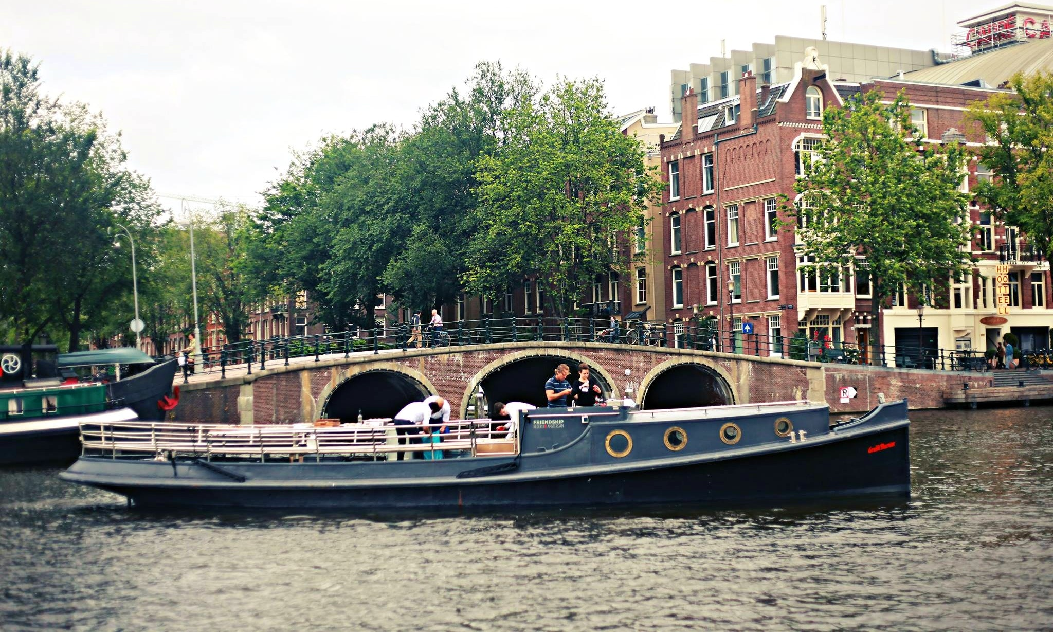 Hire 49 HMS Friendship Canal Boat in Amsterdam