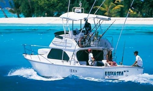 "Bora Bora Fishing Charter On 34ft ""Luna Sea""  Fishing Yacht with Captain Tepoe"