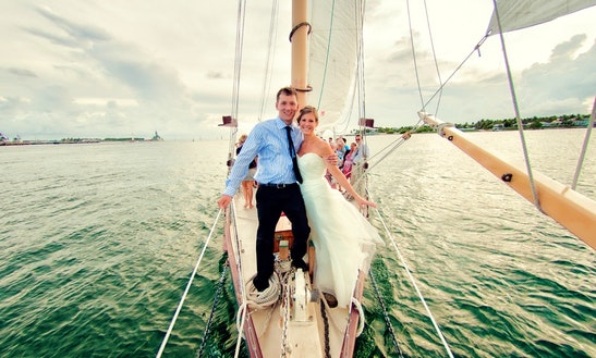 Luxury Wedding At Sea Aboard The 65ft Schooner In Key West, Florida