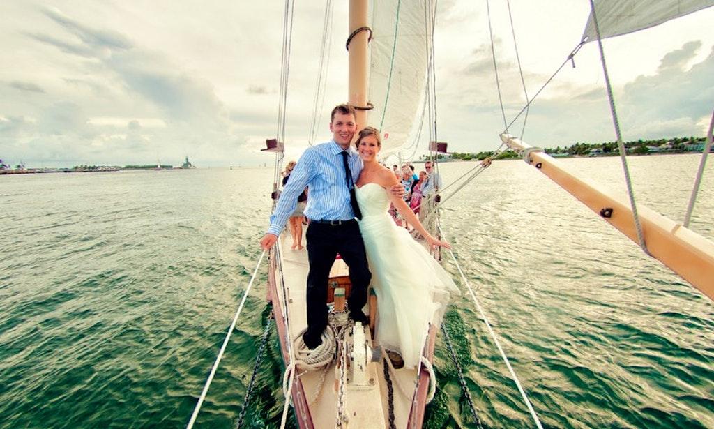 Luxury Wedding At Sea Aboard The 65ft Schooner In Key West