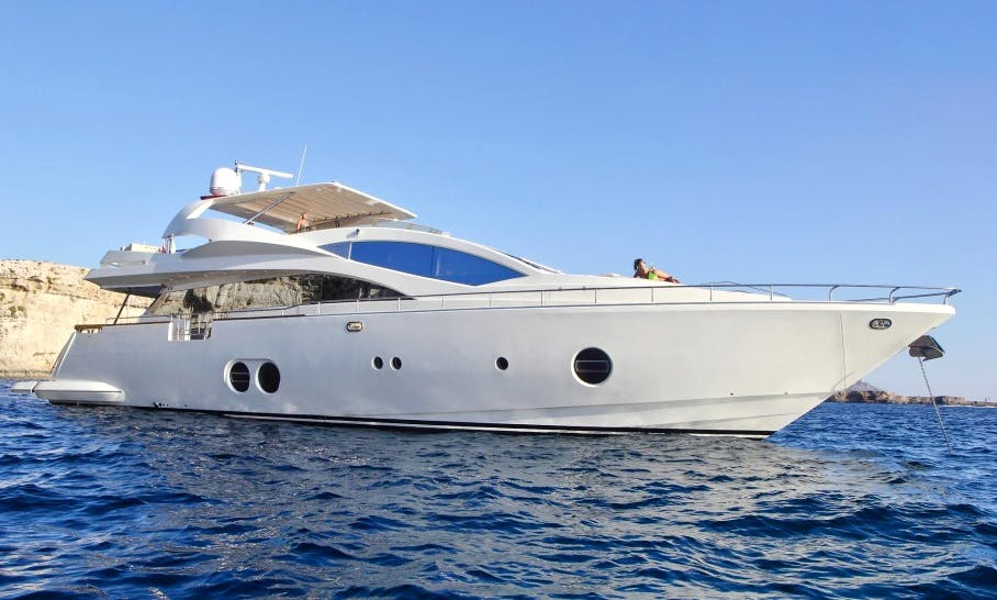 "Aicon 85 ""Sicilia IV"" Luxury Super Yacht In Portals Nous, Spain"