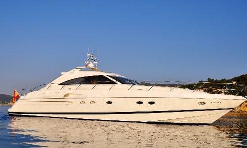 """Charter """"Escape"""" Princess V65 Superyacht in Portals Nous, Spain"""