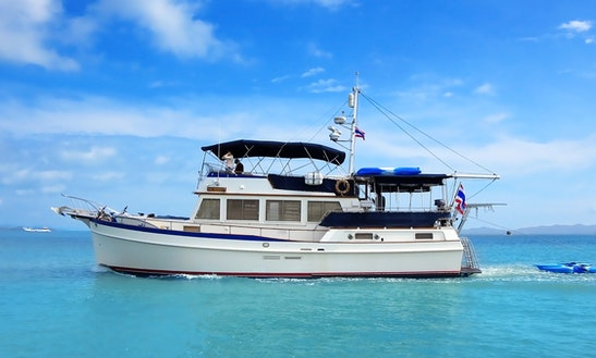 Grand Banks 49 For Rent In Phuket, 16 Guests For A Day / 6 For A Night