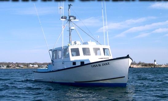 40' Cuddy Cabin Fishing Charter In Gloucester, Massachusetts
