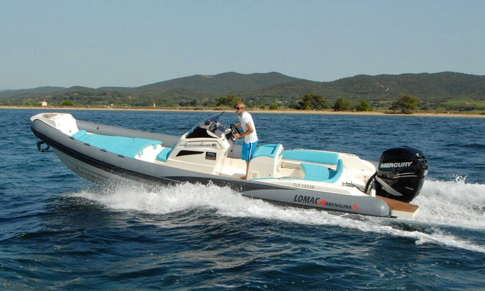 Rent 25' Rigid Inflatable Boat in Hyères, France
