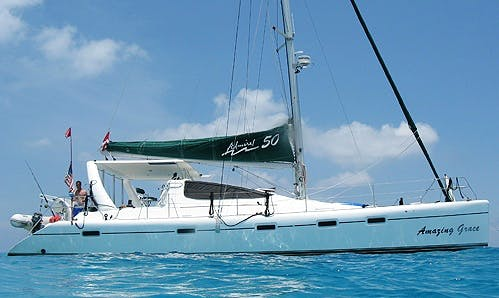 "Charter 50ft ""Amazing Grace"" Admiral Cruising Catamaran in Key Largo, Florida"