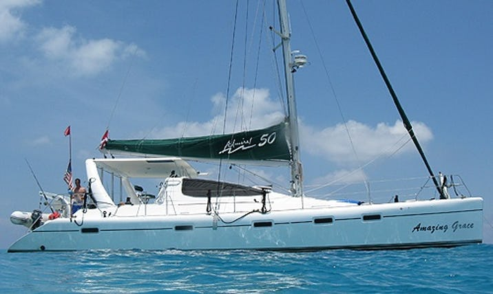 Charter 50ft Amazing Grace Admiral Cruising Catamaran In Key Largo