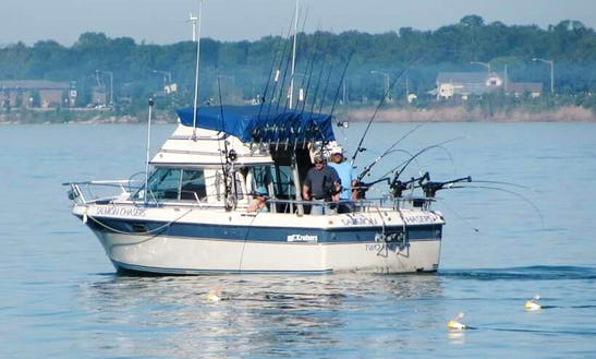 Fully Chartered Fishing Trips On Lake Michigan For Salmon And Trout.