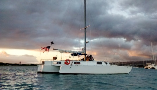 42ft Sailing Trimaran Charter In Honolulu, Hawaii