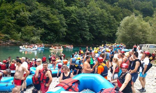 Rafting On Tara River In Bosnia