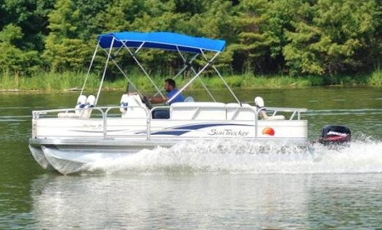 Enjoy Fishing In Ontario, Canada On 18' Pontoon