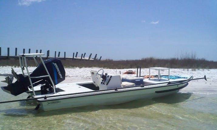 "Fishing Charter on 17ft ""Double Haul"" Skiff in Cudjoe Key, Florida"