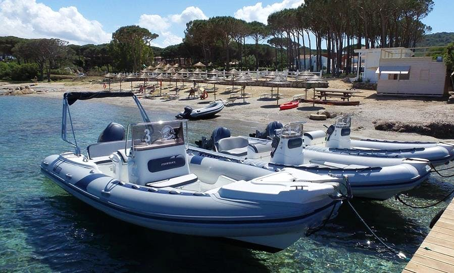 20' Lomac Rigid Inflatable Boat Rental in Sardegna, Italy