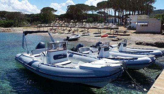 20' Lomac Rigid Inflatable Boat Rental In Sardegna, Italy