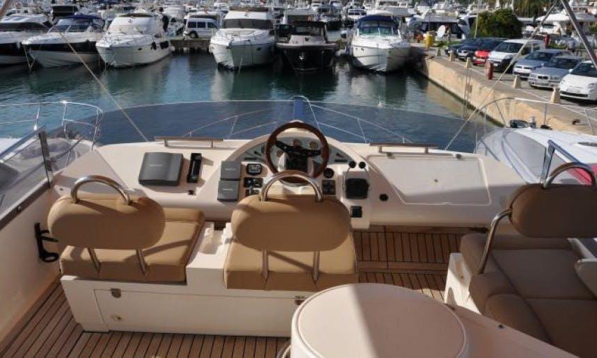 "Charter ""Tranquilo"" Fairline Phantom 50 Yacht  In Portals Nous, Spain"