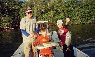 "Captained Fishing Charter on 19ft ""Excalibur"" Skiff in Key Largo, Florida"